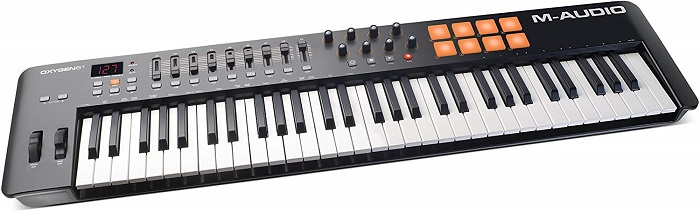 M-Audio Oxygen 61 IV | 61-Key USB/MIDI Keyboard With 8 Trigger Pads & A Full-Consignment of Production/Performance Ready Controls