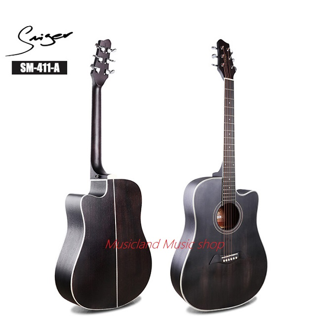 Smiger Vintage Black Acoustic Guitar