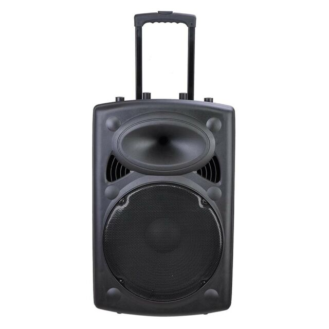 12 Inch Professional Rechargeable Wireless Outdoor Dj Trolley Speaker