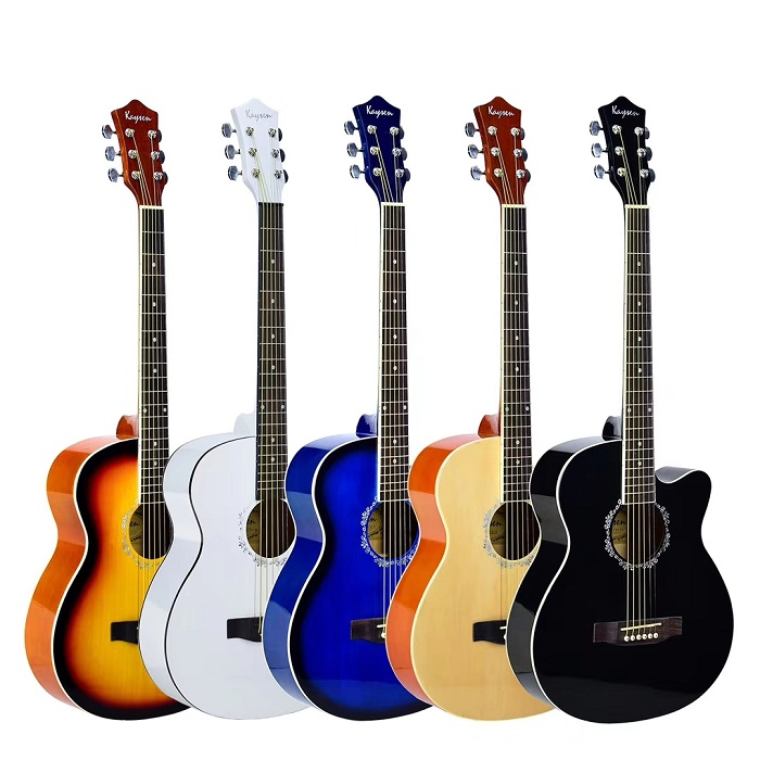 "colourful 41"" acoustic guitars"