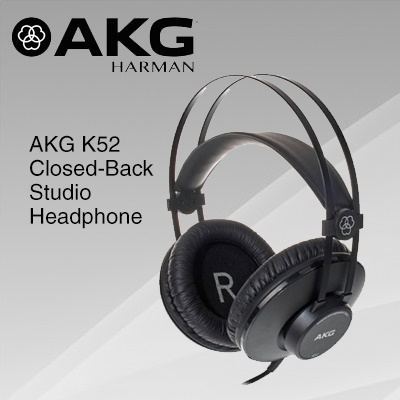 AKG K52 High Performance Closed-Back Monitoring Headphones